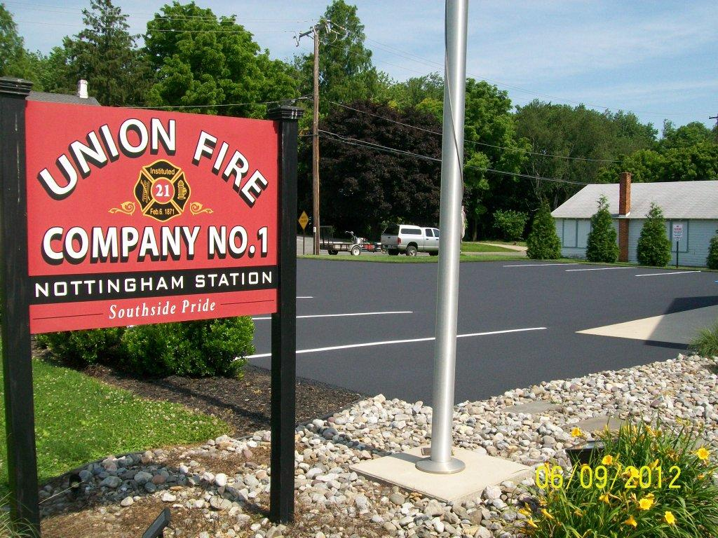Union Fire Company Number 1 Nottingham Station Parking Lot Asphalt Seal Coat 023
